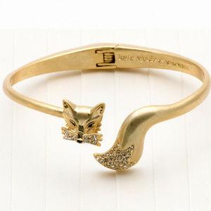NWT Kate Spade So Foxy GP Brushed Gold Bracelet